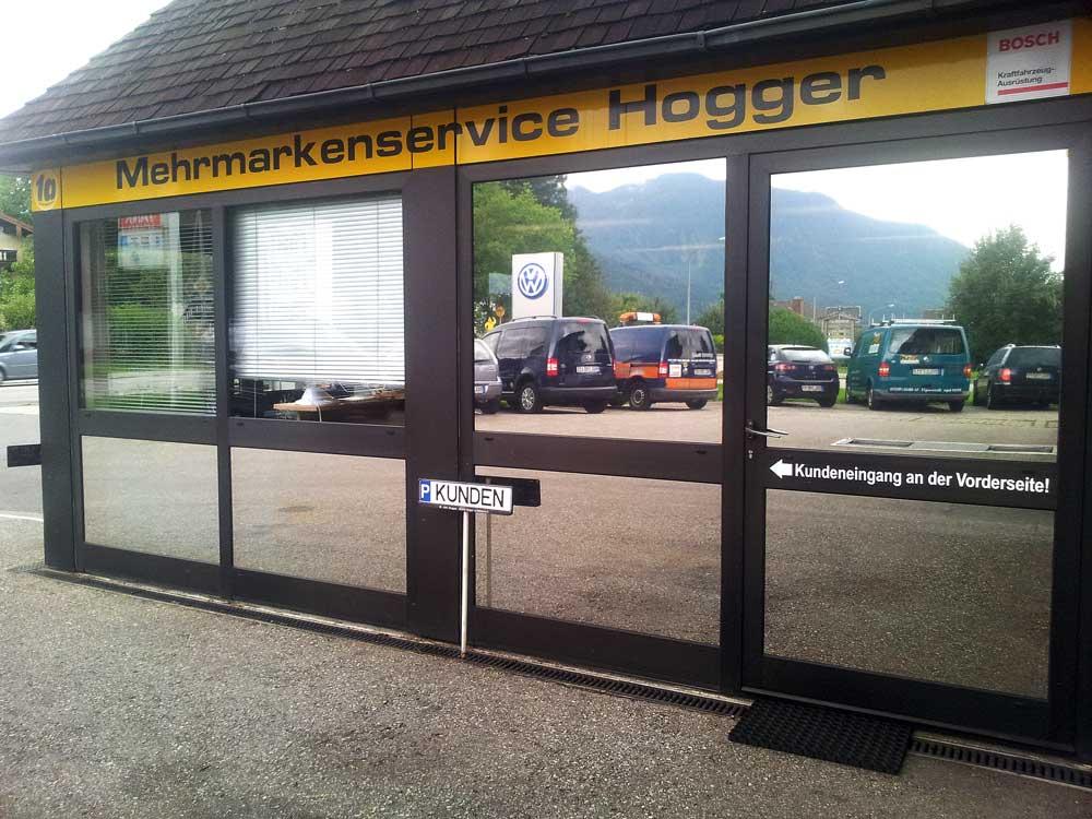 Hitzeschutzfolie Autohaus Hogger